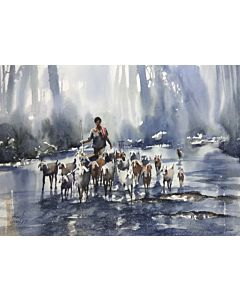 Vibrant watercolor paintings on high quality canvas creates a wow factor to our walls and brings the look and feel of the original rich tone