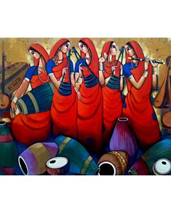 indian painting,Contemporary Art in unique style to redefine the appearance of your wall,big canvas painting