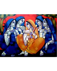 indian painting,Contemporary Art in unique style to redefine the appearance of your wall, hotel painting