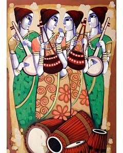 indian painting,Contemporary Art in unique style to redefine the appearance of your wall