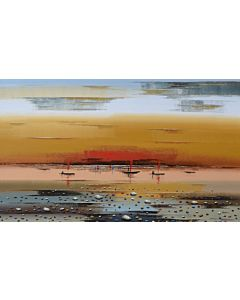 abstract landscape art,Colourful landscape Painting with vibrant colours on high quality canvas