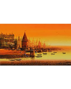 Indian Art,landscape art,landscape painting that transform living room