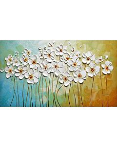 Abstract white Blossoms
