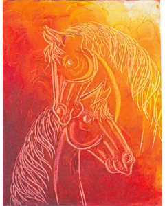 Contemporary Horse painting 6