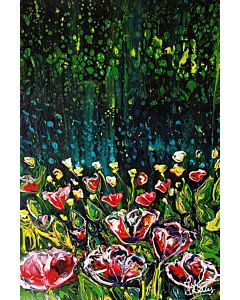 floral art,floral painting in unique style to redefine the appearance of your wall