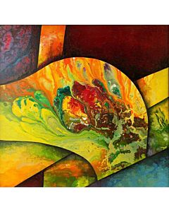 abstract art,Gorgeous abstract painting add colour to the Modern bedroom and will be eye-catching