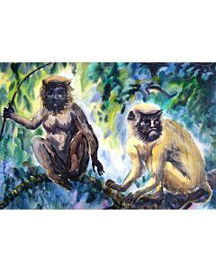Water Colour Monkey 1