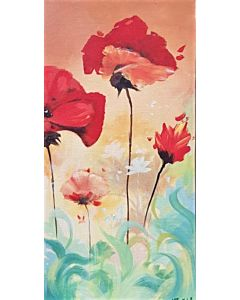 Flower painting for your living room that generates sweet emotions