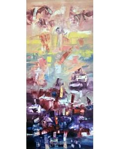 large wall painting,Large Abstract Painting that can Invoke your New Dimensional Thinking,canvas painting for living room