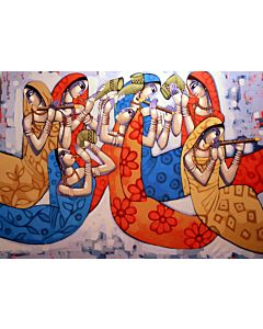 indian art,Contemporary Painting for your home Space, big canvas painting , large wall art