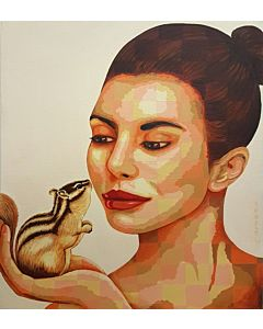 Lady and Squirrel