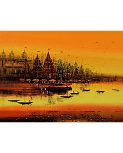 Indian wall Art,landscape painting that transform living room