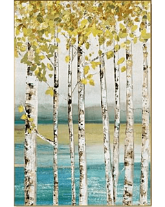 Birch tree golden View