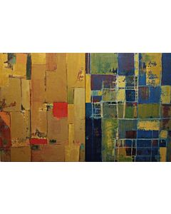Abstract square - 2 Painting set