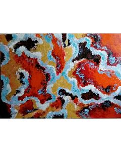 abstract art,Something highly abstract can often be a good choice for the bedroom because it fuels your imagination