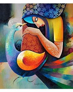 indian art,Contemporary Painting for your home Space, indian painting , painting for living room, beautiful painting
