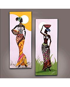 african painting,Daazzling figurative Art painting that tranform the wall with the new look