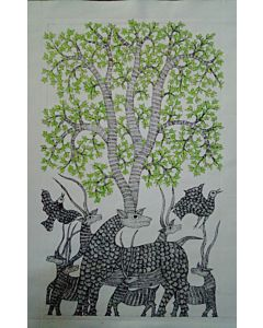 gond art,gond art has the ability to transform a room with striking visuals, intricate textures and connect