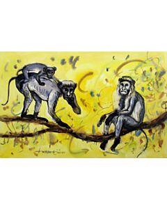 Water Colour Monkey 3