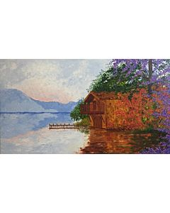 scenery painting ,Welcome your guests with a vibrant décor featuring splashes of color and scenery lines