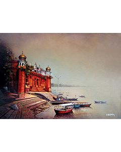 Stunning scenery art painting will suitably fit your living room!