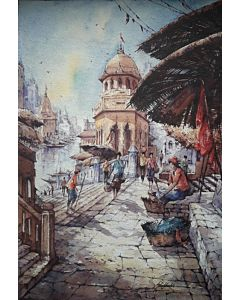 banaras watercolor series 3