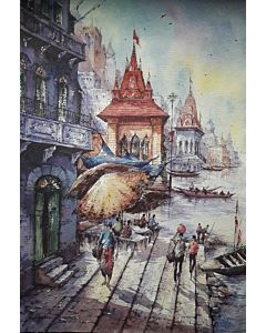 banaras watercolor series 4