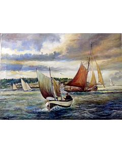 seascape art,You can easily add a touch of color to a room through large artwork