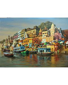scenery painting,Riverside Scenery Painting to create the look and feel of the original nature