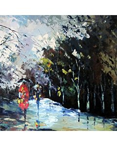 Aesthetic value in the Work of Landscape Painting for living room