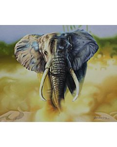 elephant painting,realistic art,Stunning animal art painting will suitably fit your living room!