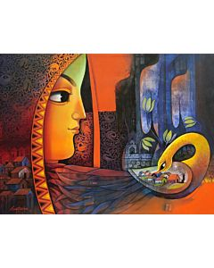 indian art,Contemporary Painting for your home Space, painting for living room, beautiful painting
