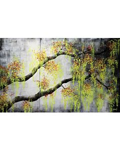abstract art,You can easily add a touch of color to a room through large artwork