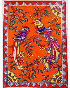 madhubani art,madhubani art can be a very refreshing and dynamic addition to a space like the kitchen