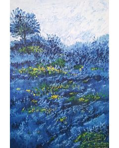 Flower Painting - Blue Morning