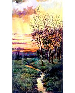 nature painting,You can easily add a touch of color to a room through large artwork