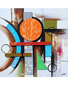 Abstract painting,Welcome your guests with a vibrant décor featuring splashes of color and abstract lines