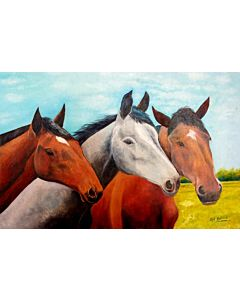 3 Stunning Horses painting will suitably fit your living room!
