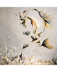 horse painting , running horse painting , white horse painting ,Enhance the beauty of Your Walls through large  canvas Painting