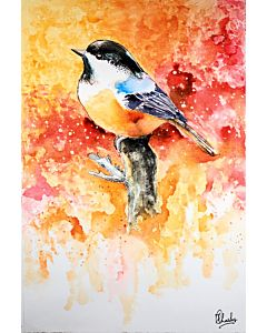 Bird Painting , Bird Painting on Canvas , Abstract Art
