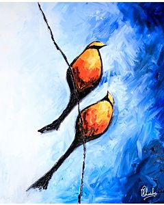 Bird Painting , Colorful Abstract Art, Colorful Abstract Art, 100% Hand Painted Original Paintings that does not fade away and brings Life to the empty boring walls.