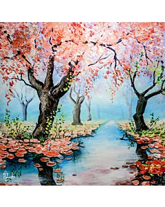 scenery painting , painting scenery , natural scenery painting , beautiful scenery painting , scenery art
