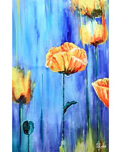 Flower Painting , Floral Painting , Floral art , Floral canvas painting