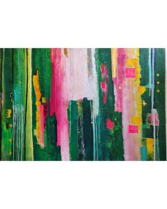 abstract art,Welcome your guests with a vibrant décor featuring splashes of color and abstract lines