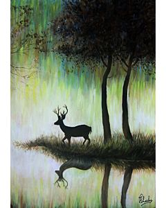 nature painting,animal painting,Stunning nature art painting will suitably fit your living room!