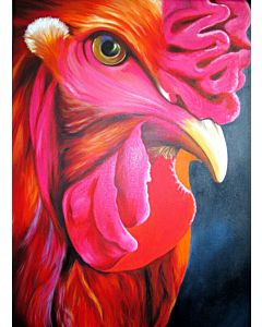 realistic painting,bird painting,bird art,rooster  painting,Classic Wall Art  to Define your Home
