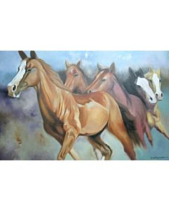 realistic art,horse art,horse painting,Unique style to redefine the appearance of your walls with awesome Canvas Painting!
