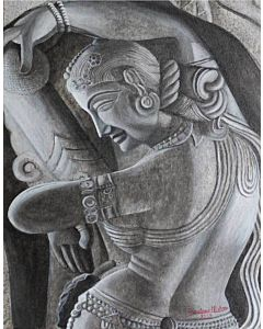 Khajuraho Lady Painting