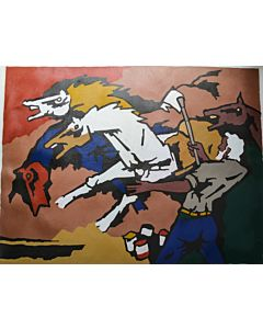 Canvas Painting The HORSES