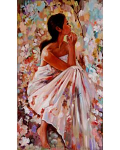 women painting,realistic art,unrevealed beauty in Portrait painting best suitable for living room